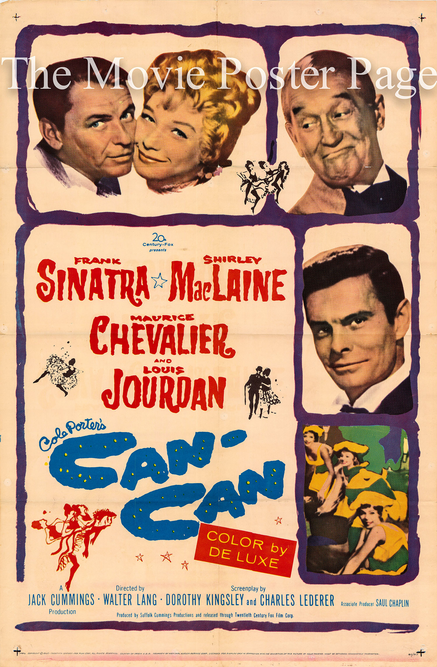 pictured is a US promotional poster for the 1960 Walter Lang film Can-Can starring Frank Sinatra.