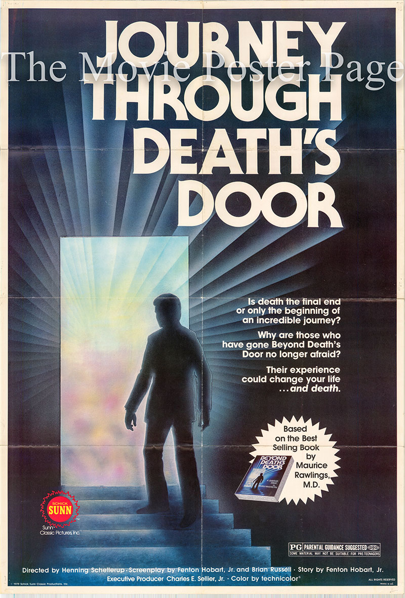 Pictured is a US one-sheet poster for 1979 Henning Schellerup film Journey Through Deaths Door  starring Tom Hallick.