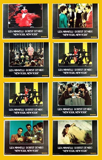 Pictured is a US Lobby Card set for the 1977 Martin Scorsese film New York New York starring Robert De Niro and Liza Minnelli.