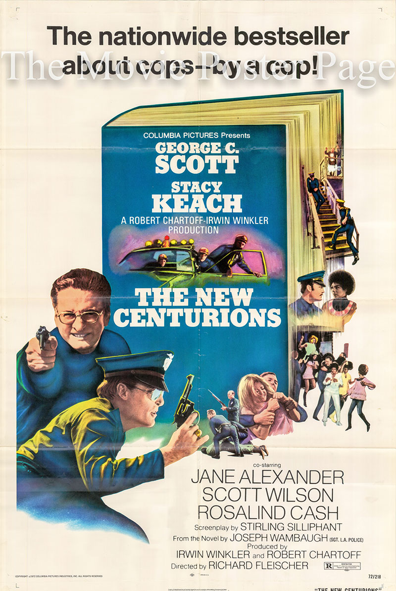 Pictured is a US one-sheet poster for the 1972 Richard Fleischer film The New Centurions starring Geroge C. Scott.