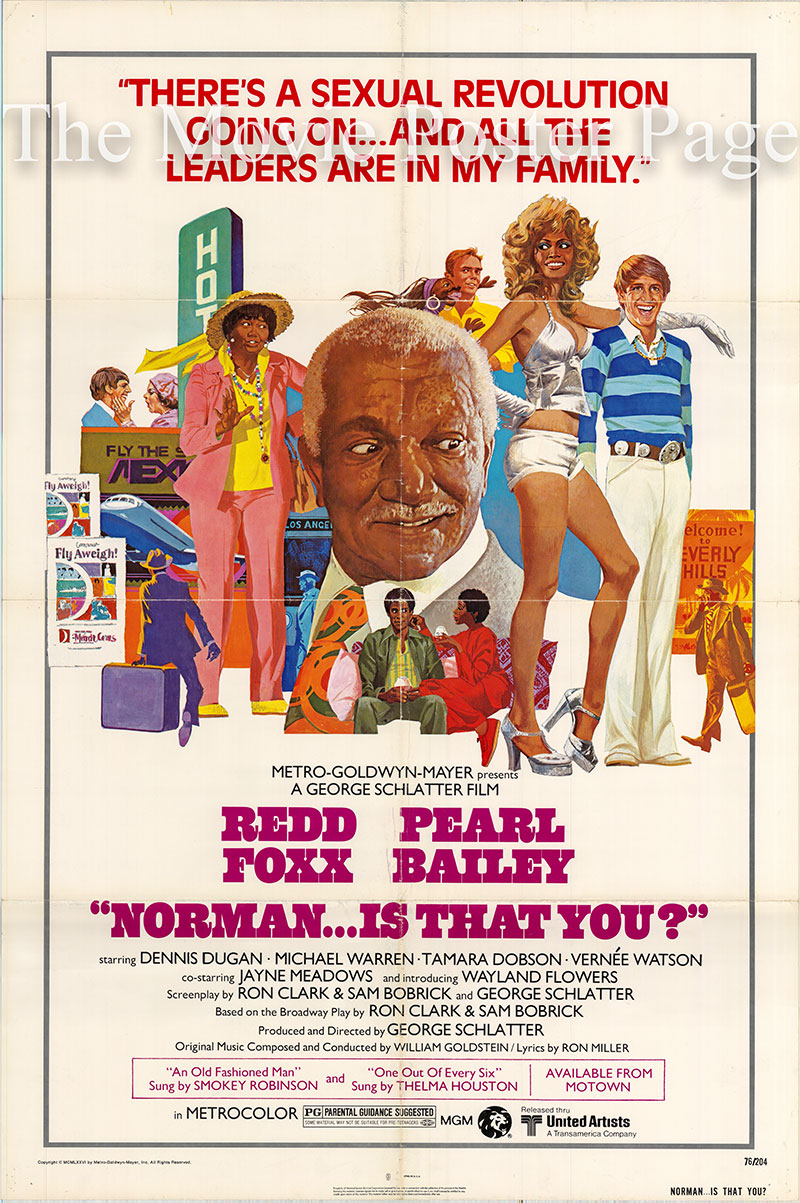 Pictured is a US one-sheet poster for the 1976 George Schattler film Norman is that You? starring Redd Foxx.