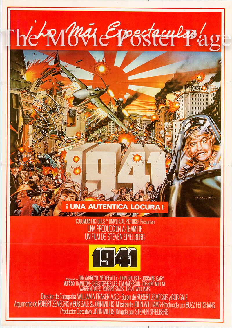 Pictured is US one-sheet poster for the 1979 Steve Spielberg film 1941 starring Dan Ayckroyd.