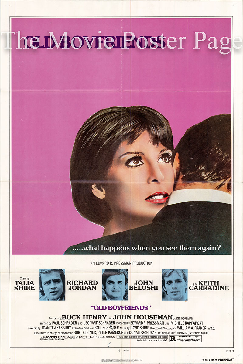 Pictured is a US one-sheet poster for the 1979 John Tewkesbury film Old Boyfriends starring Talia Shire.