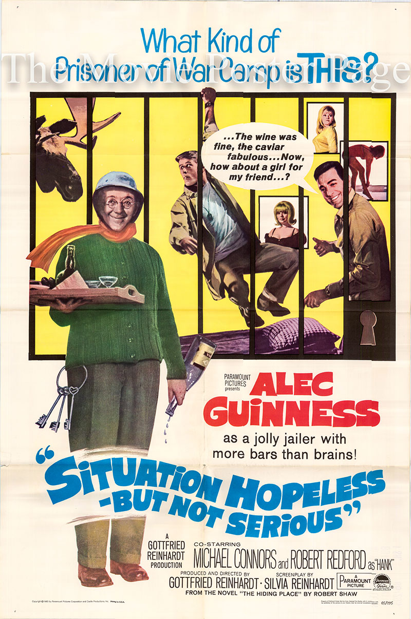 Pictured is a US one-sheet poster for the 1965 Gottfried Reinhardt film Situation Hopeless but Not Serious starring Alec Guiness as Wilhelm Frick.