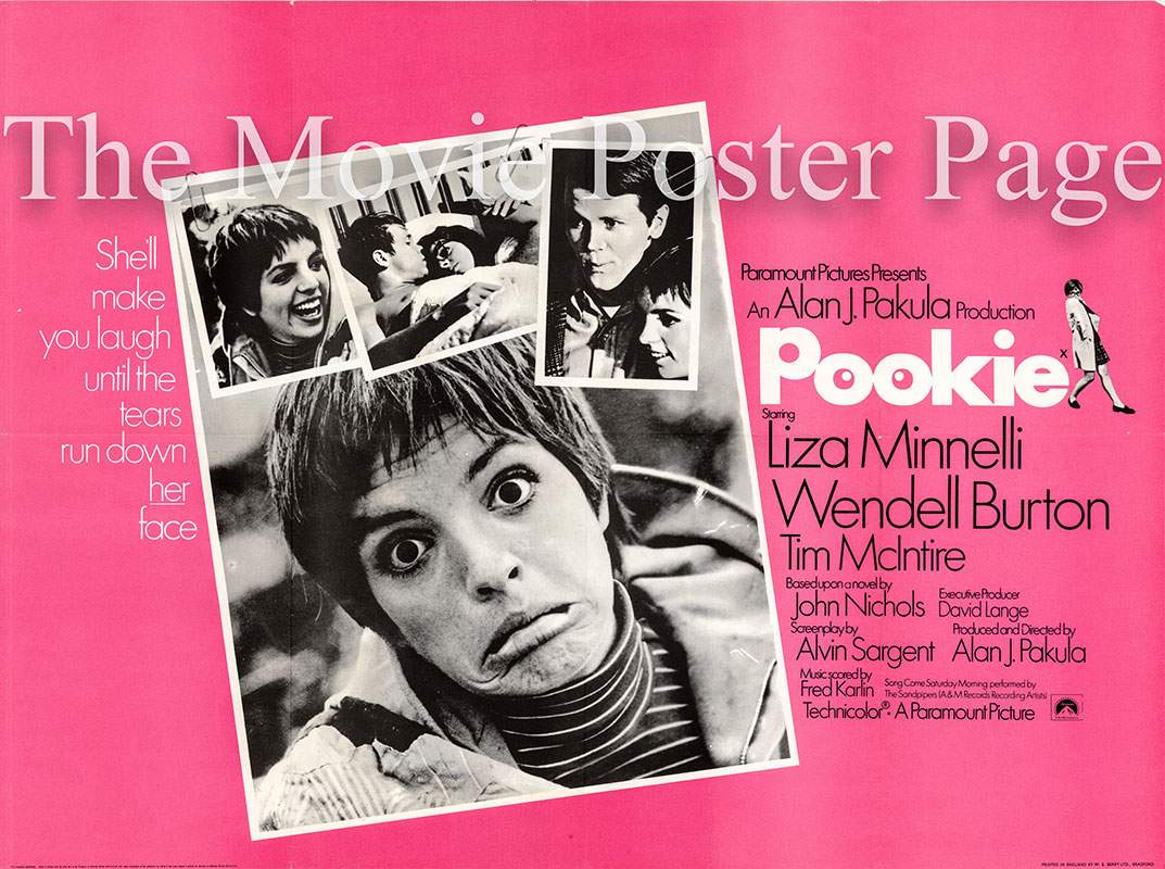 Pictured is a UK quad promotional poster for the 1969 Alan J. Pakula film The Sterile Cuckoo, starring Liza Mennelli.