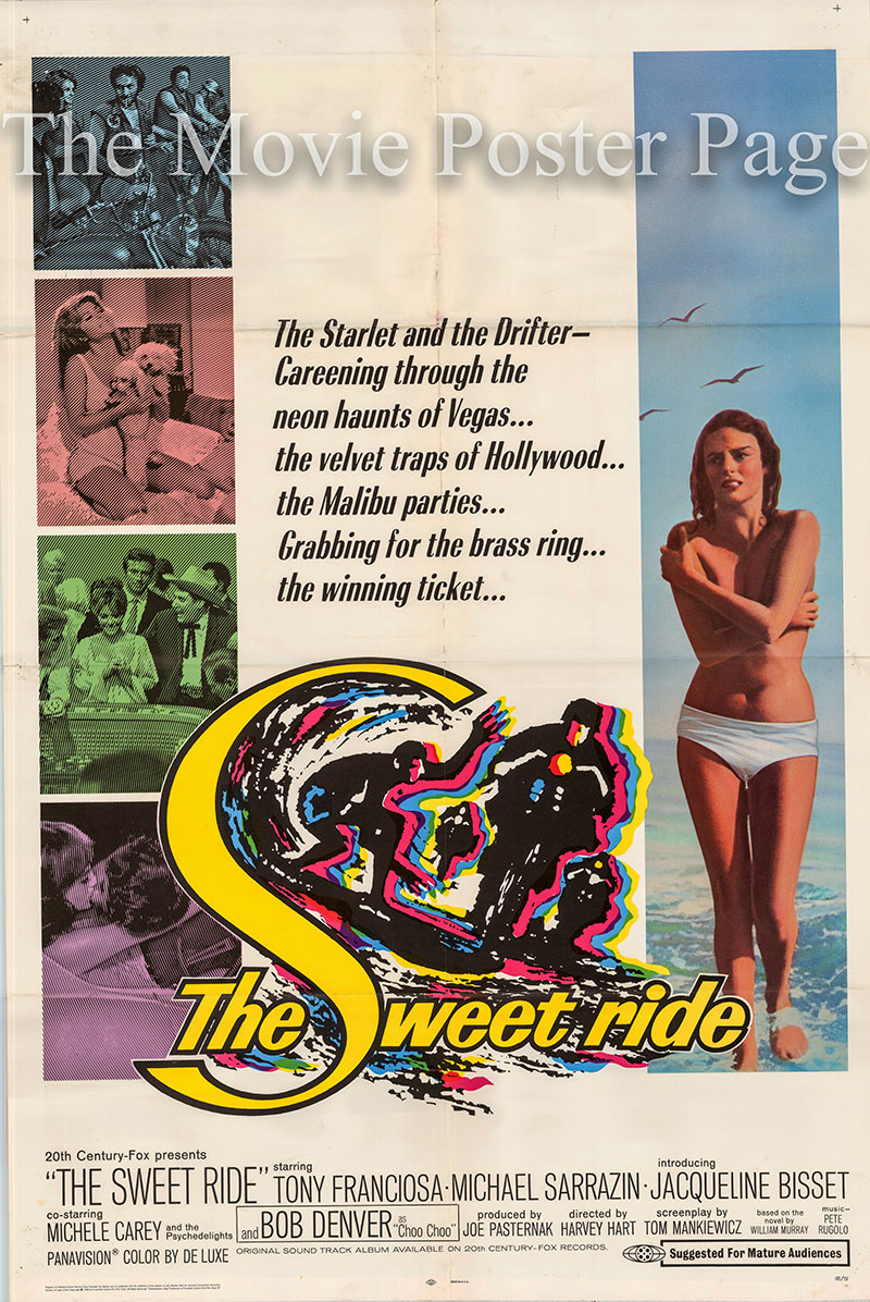 Pictured is a US one-sheet poster forthe 1966 Harvey Hart film The Sweet Ride starring Jacqueline Bisset.