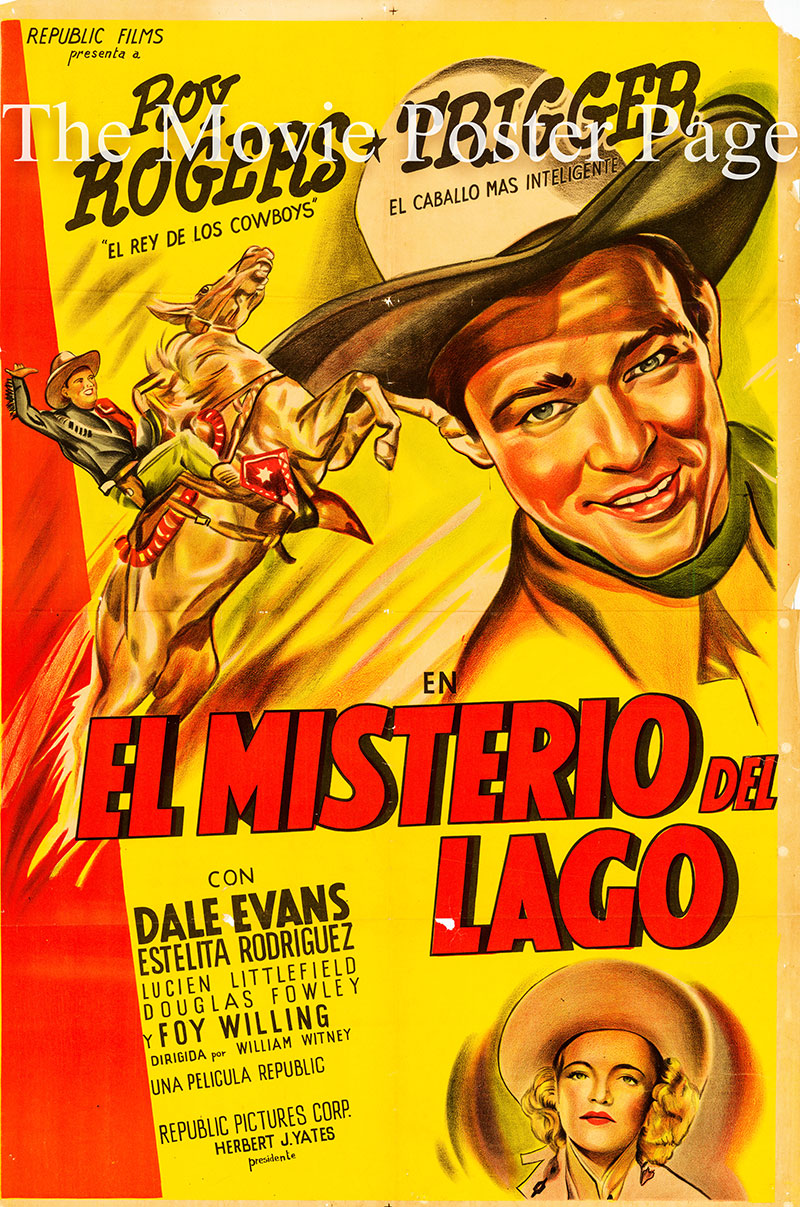 Pictured is an Argentine one-sheet poster for the 1949 William Witney film Susanna Pass starring Roy Rogers as himself.
