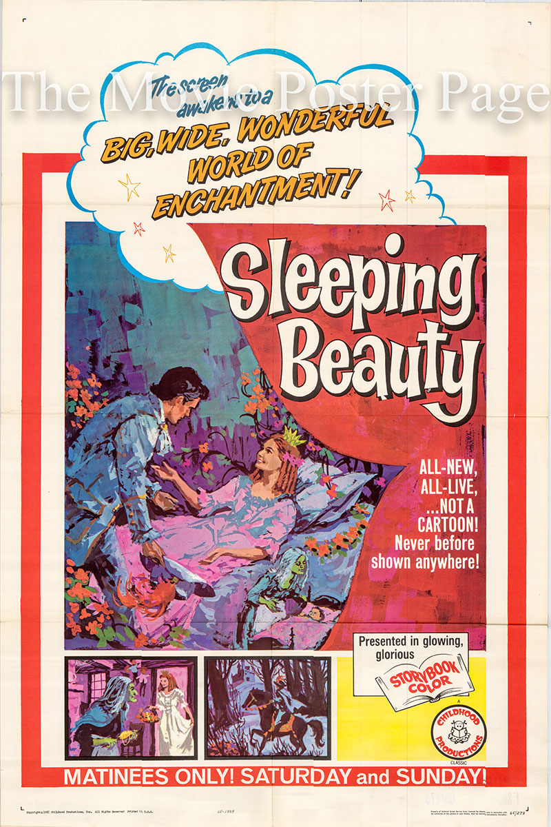 This is a US one-sheet poster for the 1966 Fritz Genschow film Sleeping Beauty starring Angela von Leitner as Sleeping Beauty.