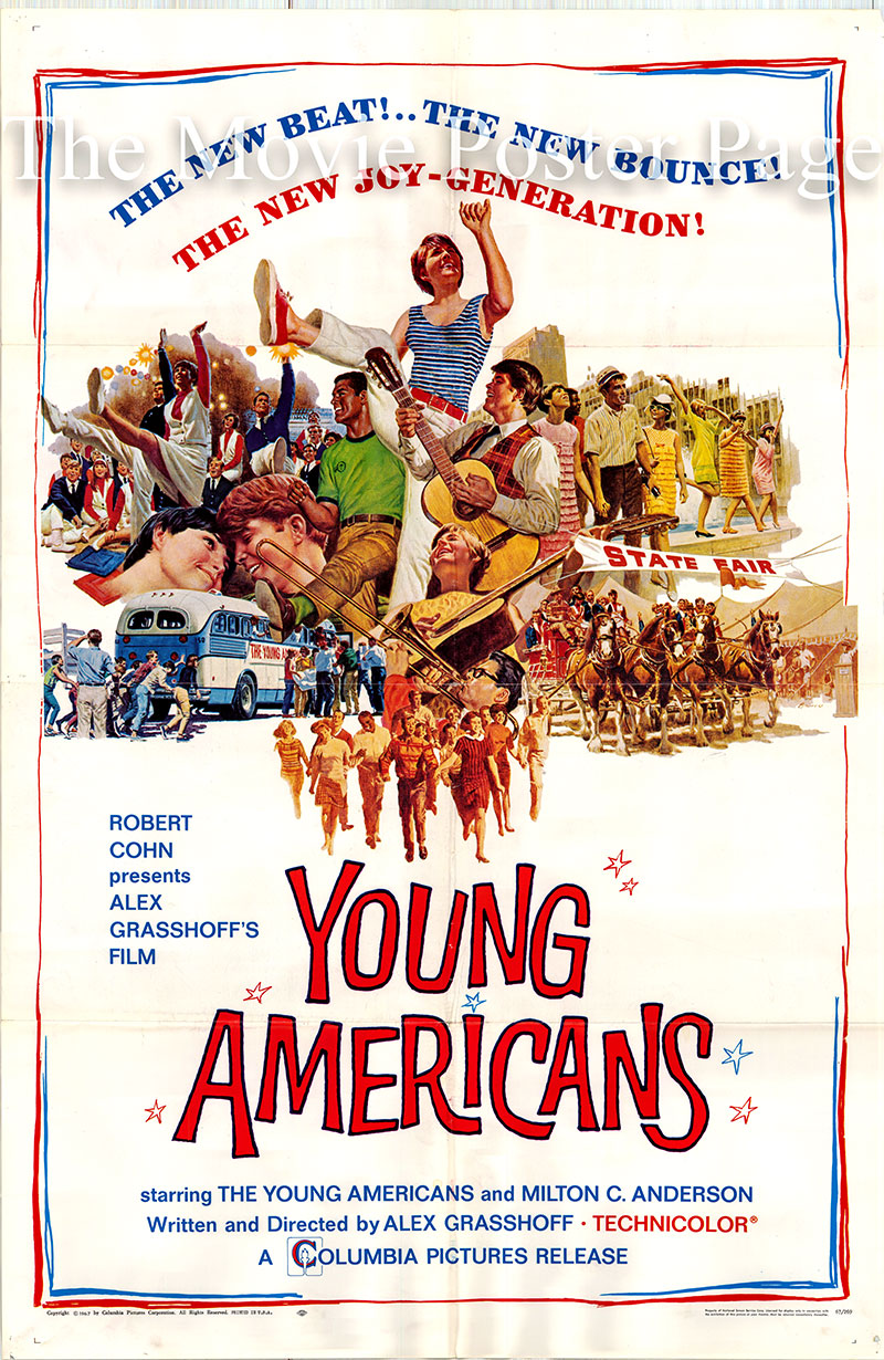 Pictured is a US one-sheet poster for the 1967 Alexander Grasshoff film Young Americans starring Diane Adams as Diane.