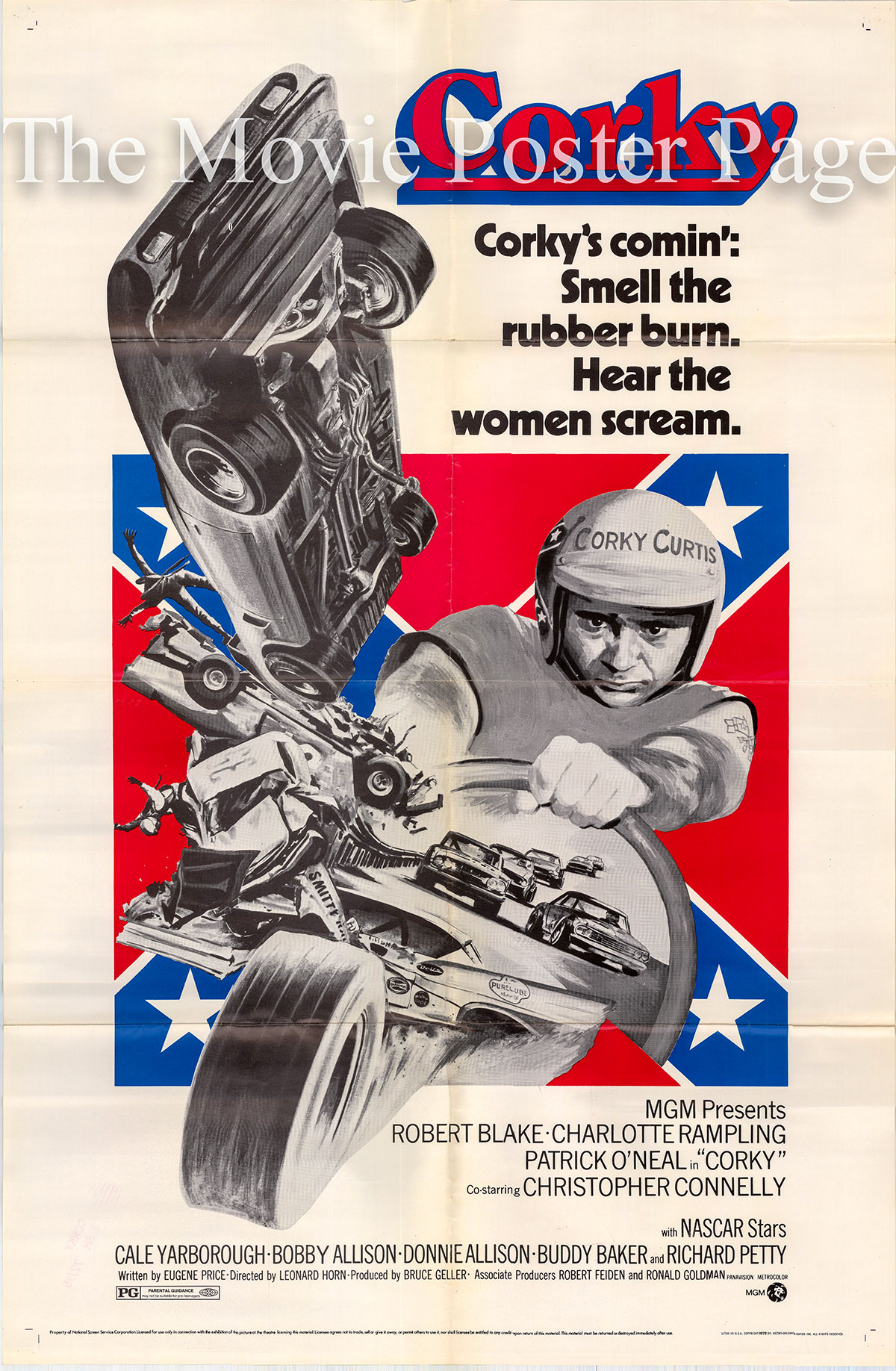 Pictured is a US one-sheet poster for the 1972 Leonard Horn film Corky starring Robert Blake as Corky Curtiss.