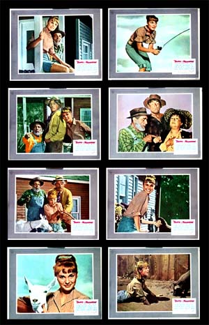 Pictured is a US lobby card set for the 1967 Leslie Goodwins and Sidney Miller film Tammy and the Millionaire starring Debbie Watson as Tammy Tarleton.