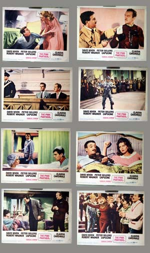 Pictured is a US lobby card set for the 1963 Blake Edwards film The Pink Panther, starring David Niven.