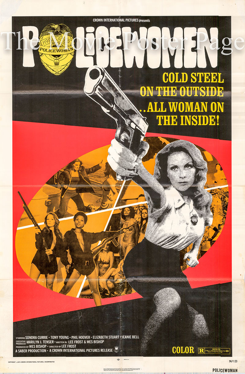 Pictured is a US one-sheet poster for the 1974 Lee Frost film Policewomen starring Sondra Currie as Lacy Bond.