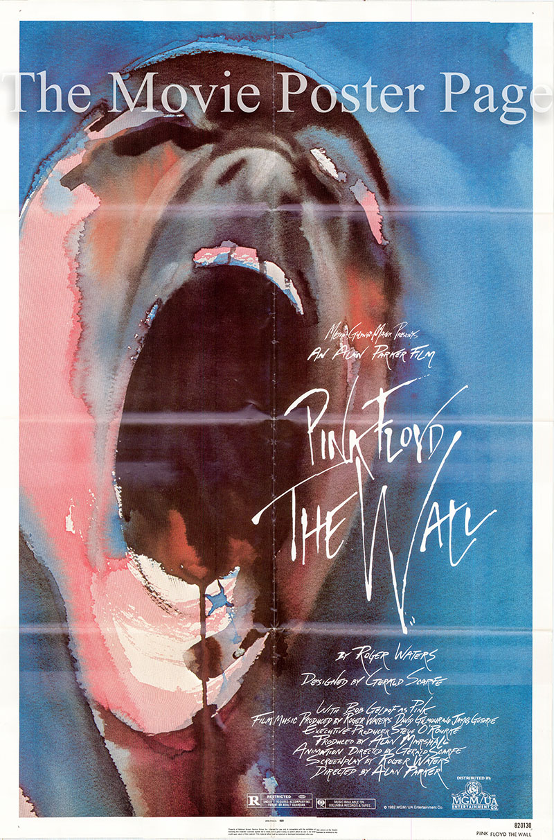 Pictured is a US one-sheet poster for the 1982 Alan Parker film Pink Floyd The Wall starring Pink Floyd.