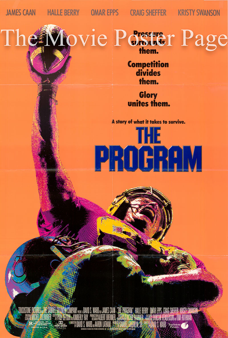 Pictured is a US one-sheet poster for the 1993 David S. Ward film The Program starring James Caan as Sam Winters.