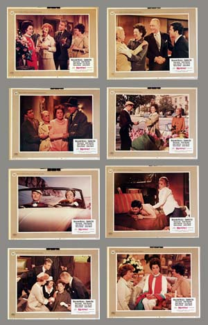 Pictured is a US lobby card set for the 1967 David Lowell Rich film Rosie starring Rosalind Russell as Rosie Lord.