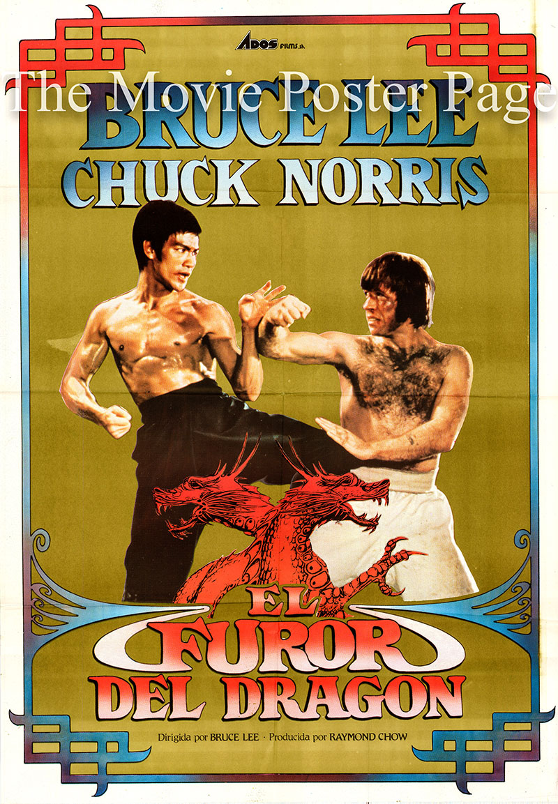 Pictured is a Spanish one-sheet poster for the 1972 Bruce Lee film The Way of the Dragon starring Bruce Lee as Tang Lung, the Dragon.