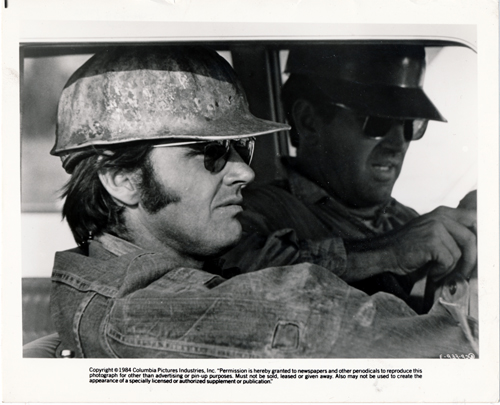 Pictured is a US promotional still photo from the 1970 Bob Rafelson film Five Easy Pieces starring Jack Nicholson.