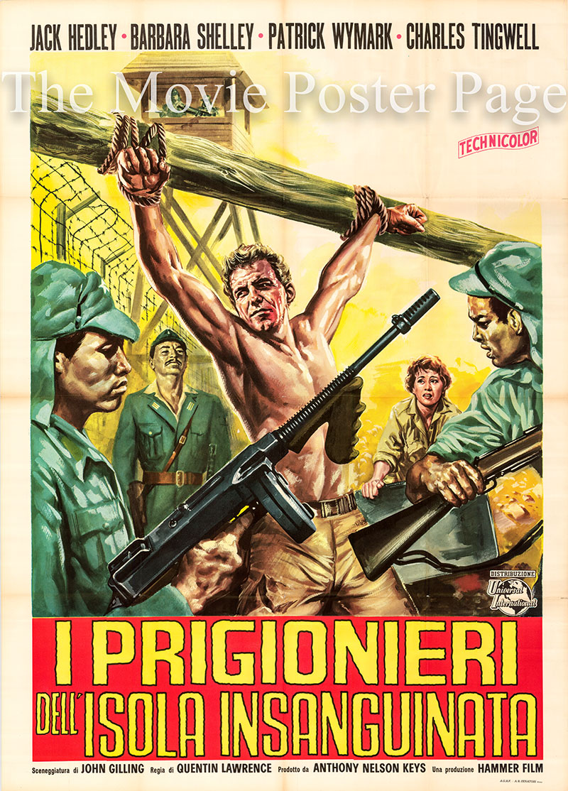 Pictured is an Italian two-sheet poster for the 1964 Quentin Lawrence film The Secret of Blood Island starring Jack Hedley as Crewe.