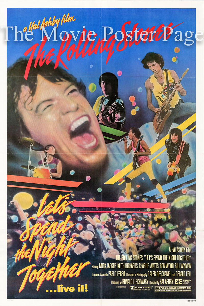 Pictured is a US one-sheet poster for the 1992 Hal Asby film Let's Spend the Night Together starring the Rolling Stones.