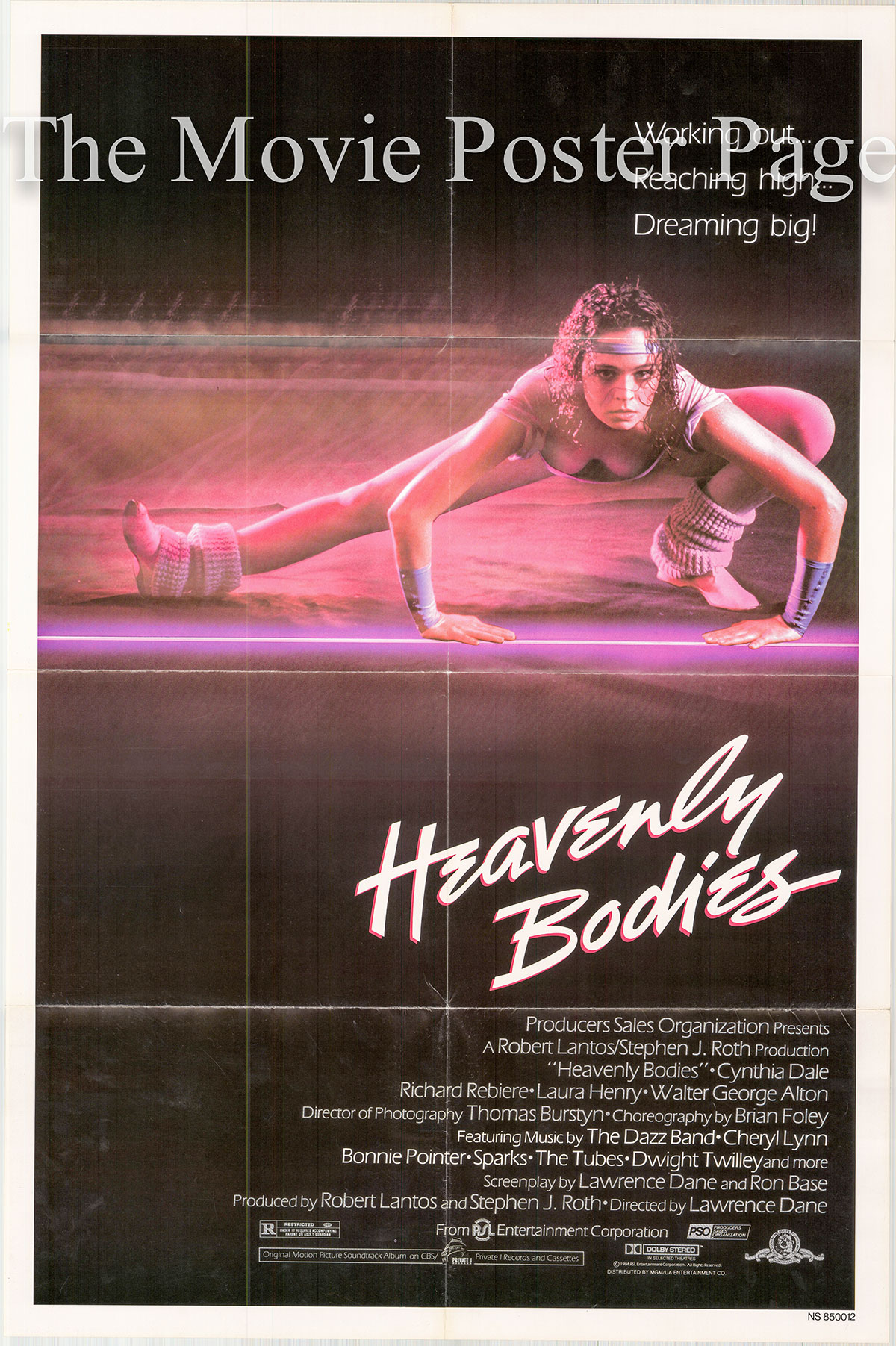 Pictured is a US one-sheet poster for the Lawrence Dane film Heavenly Bodies.