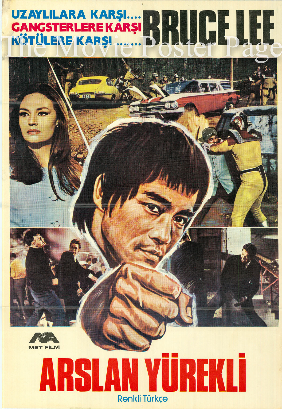 Pictured is a Turkish one-sheet poster for the 1973 Robert Clouse film Enter the Dragon starring Bruce Lee.