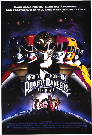 Pictured is a US promotional poster for the 1995 Bryan Spicer Film Mighty Morphin Power Rangers, starring Karan Ashley.