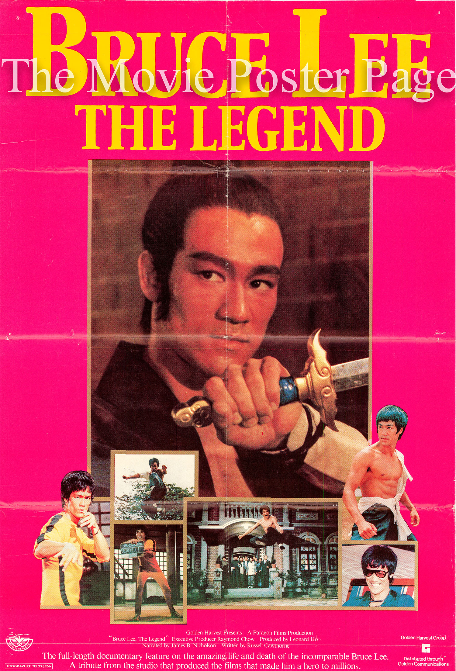 Pictured is a Hong Kong one-sheet poster for the 1984 Leonard Ho film Bruce Lee the Legend.