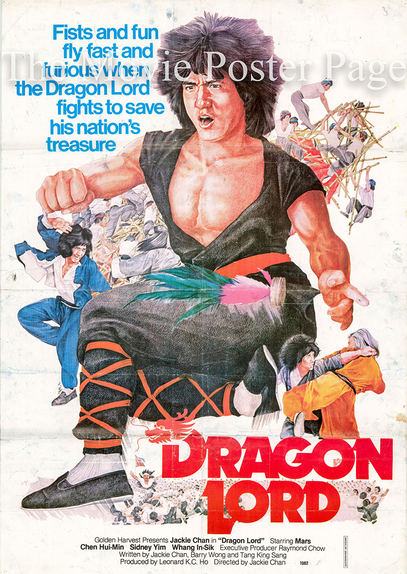 Pictured is a Lebanese poster for the 1982 Jackie Chan film Dragon Lord starring Jackie Chan.