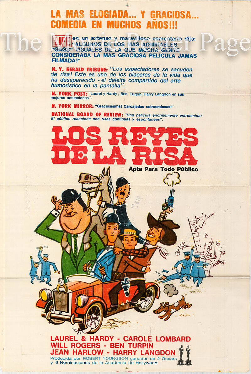 Pictured is an Argentine one-sheet poster for the 1957 Robert Youngson film The Golden Age of Comedy.