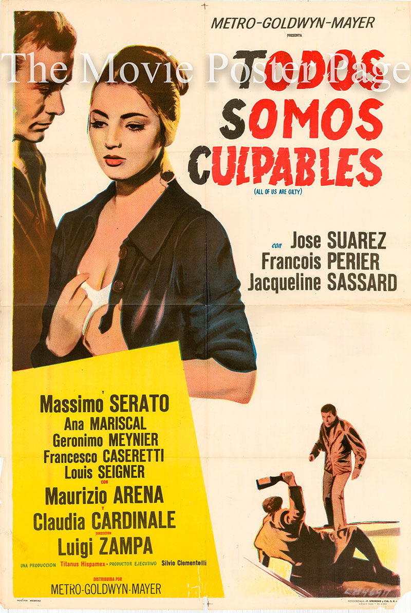 Pictured is an Argentine one-sheet poster for the 1959 Luigi Zampa film The Magistrate starring Claudia Cardinale.
