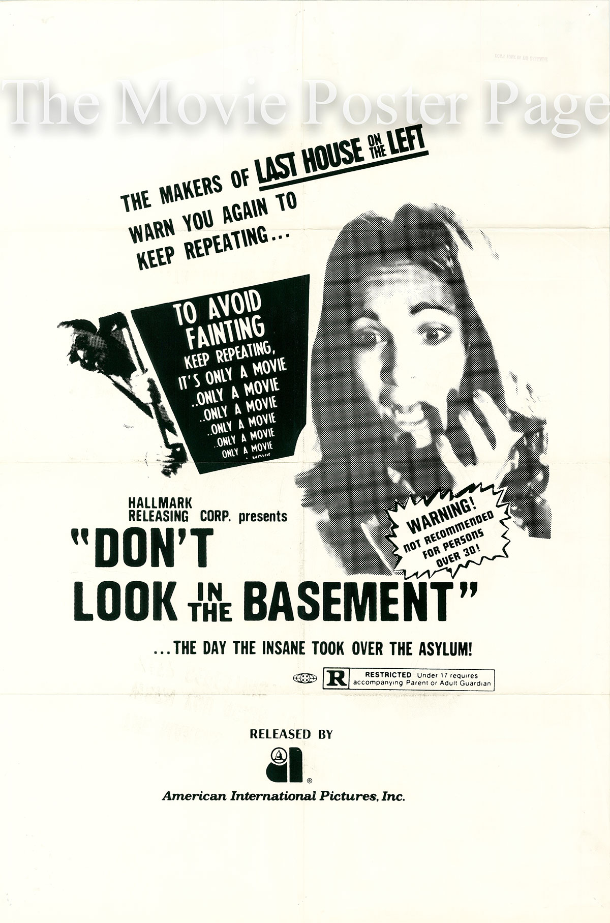 Pictured is a US rerelease promotional poster for the 1973 S.F.Brownrigg film The Forgotten with the rerelease name Don't Look in the Basement, starring Bill McGhee.