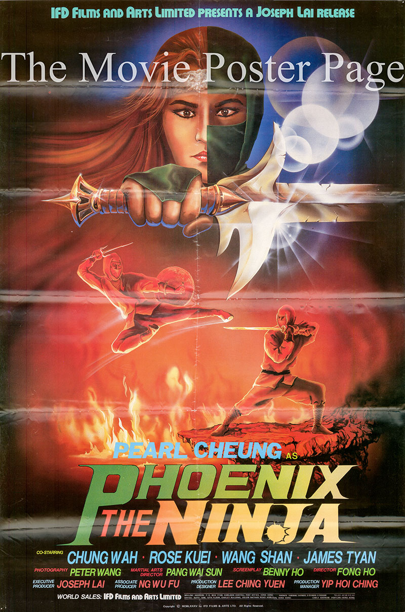 Pictured is a Hong Kong poster for the 1984 Godfrey Ho film Phoenix the Ninja starring Chung Wah.