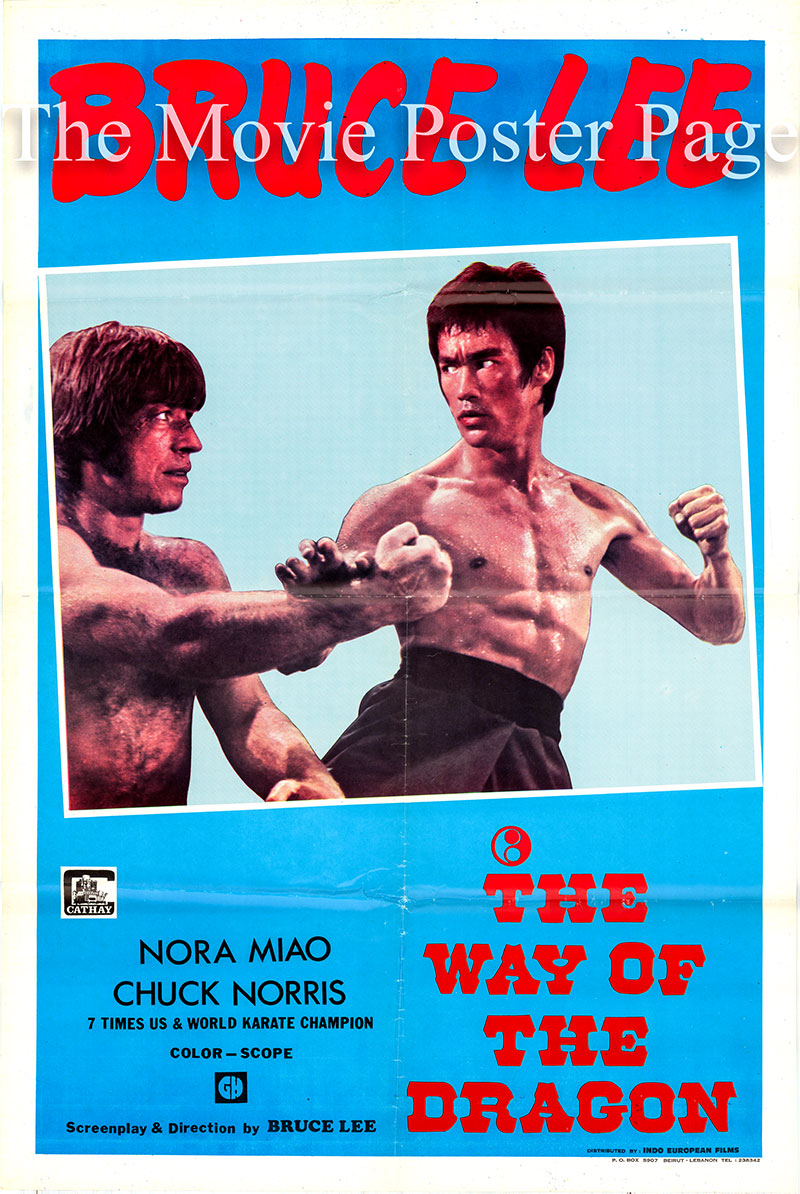 Pictured is a Lebanese one-sheet poster for the 1972 Bruce Lee film The Way of the Dragon starring Bruce Lee.
