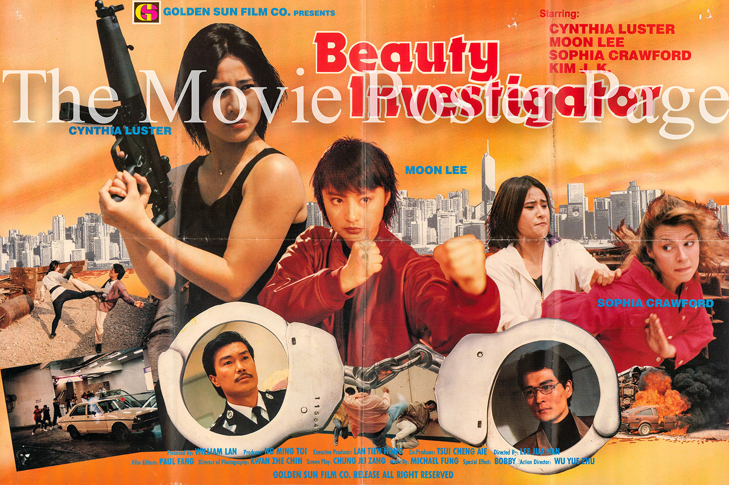 Pictured is a Hong Kong poster for the 1992 Tso Nam Lee film Beauty Investigator starring Moon Lee.