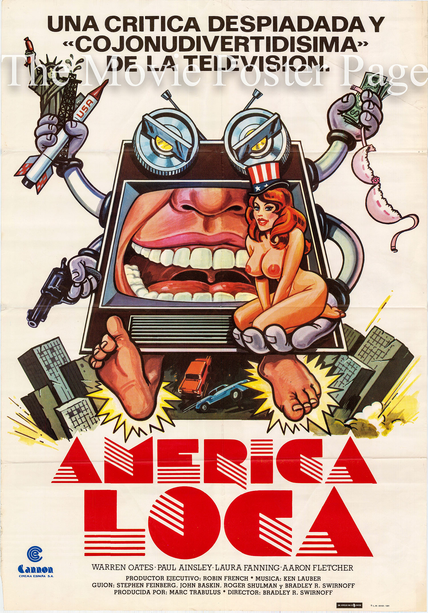 Pictured is a Spanish one-sheet poster for the 1977 John Baskin film American Raspberry starring Warren Oates.