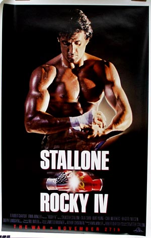 Pictured is a withdraw US advance promotional poster for the 1986 Sylvester Stallone film Rocky IV starring Sylvester Stallone.
