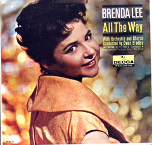 Brenda Lee Quot All The Way Quot Early 60s Decca Dl4176 Mono Lp Ex