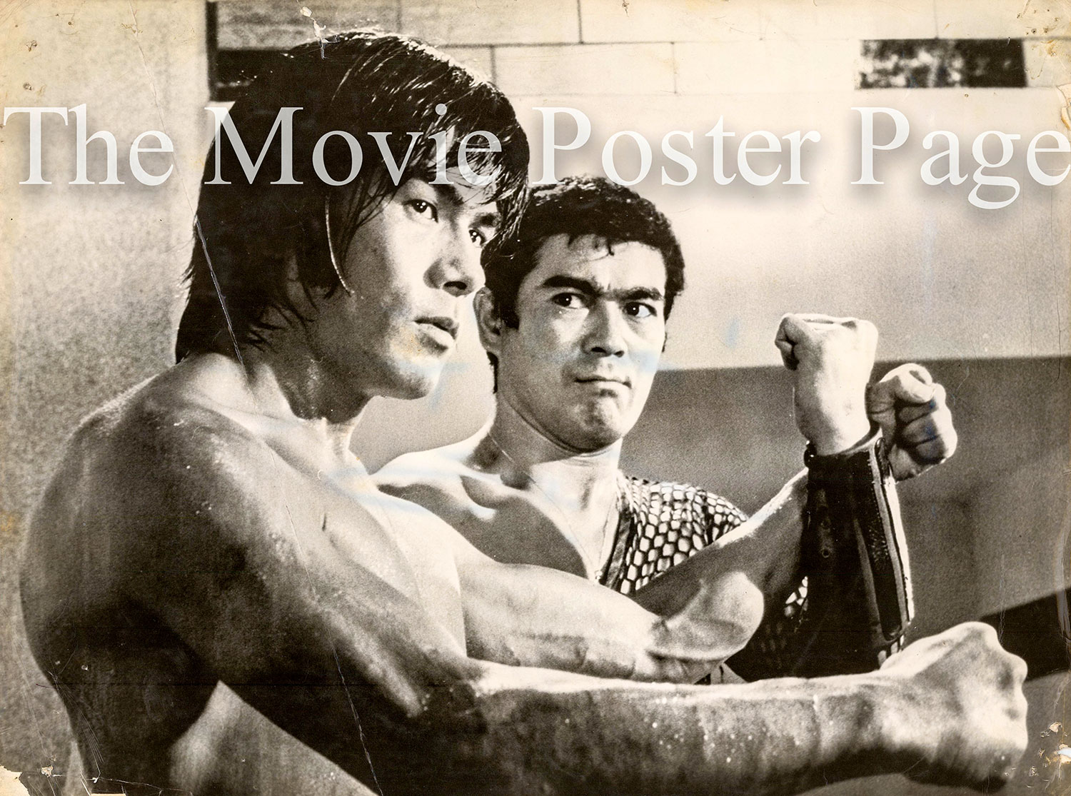 Pictured is a black-and-white still of the late Bruce Lee.