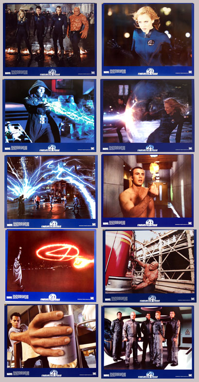 Pictured is a lobby card set for the 2005 Tim Story film Fantastic Four, starring Ioan Guffudd.