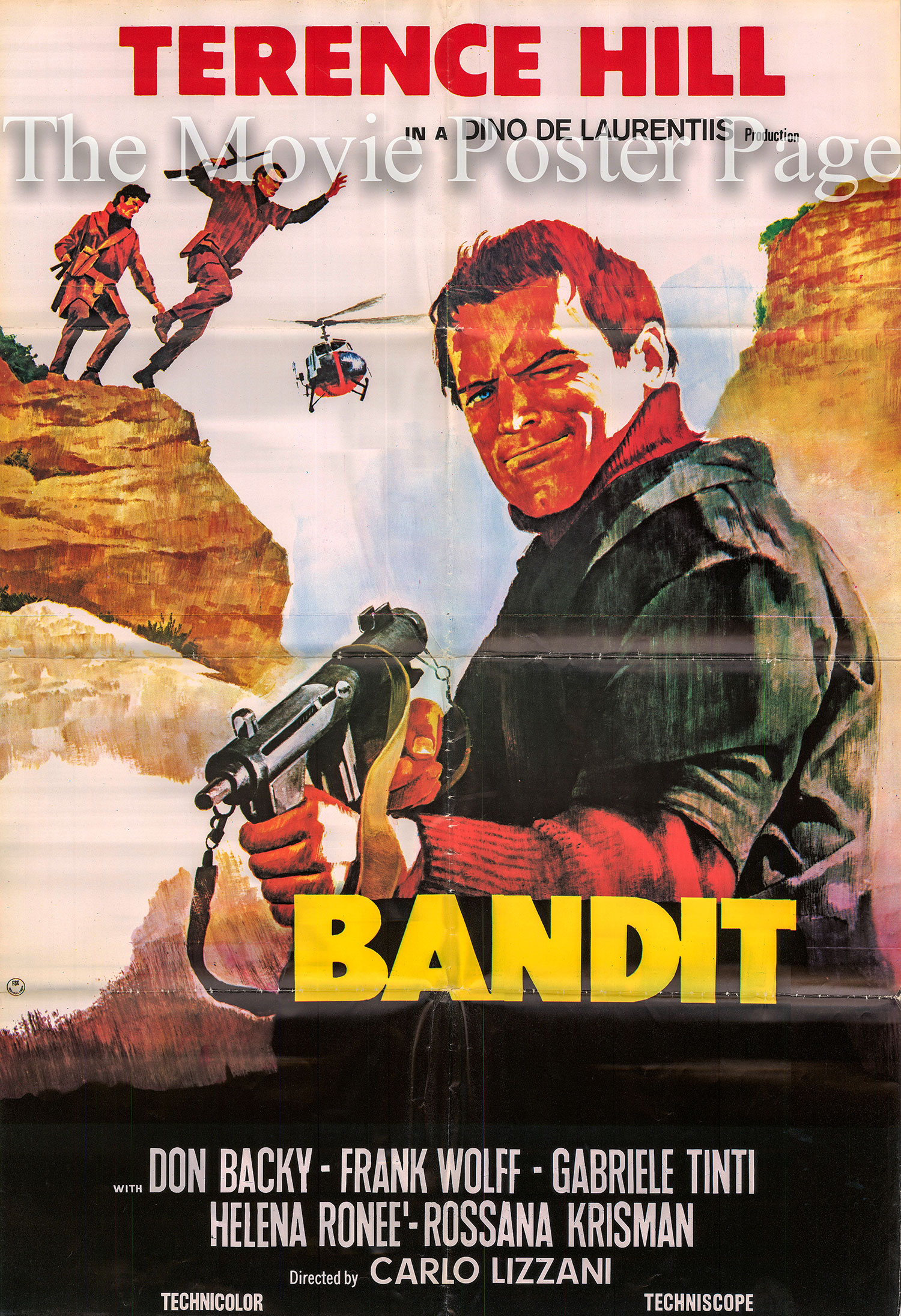 Pictured is an Italian one-sheet poster for the 1969 Carlo Lizzani film Bandit starring Terence Hill.