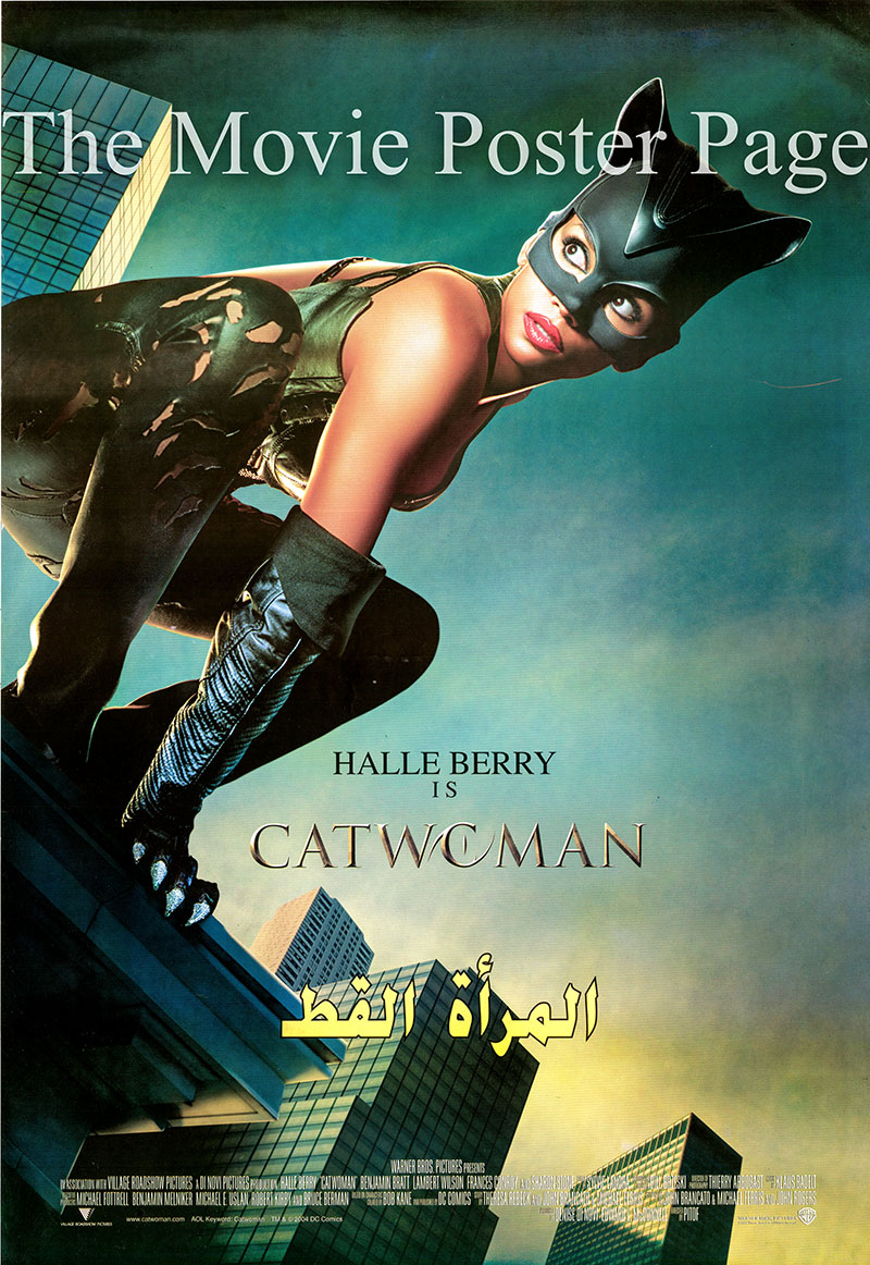 Pictured is an Egyptian promotional poster for the 2004 Pitof film Catwoman starring Halle Berry.