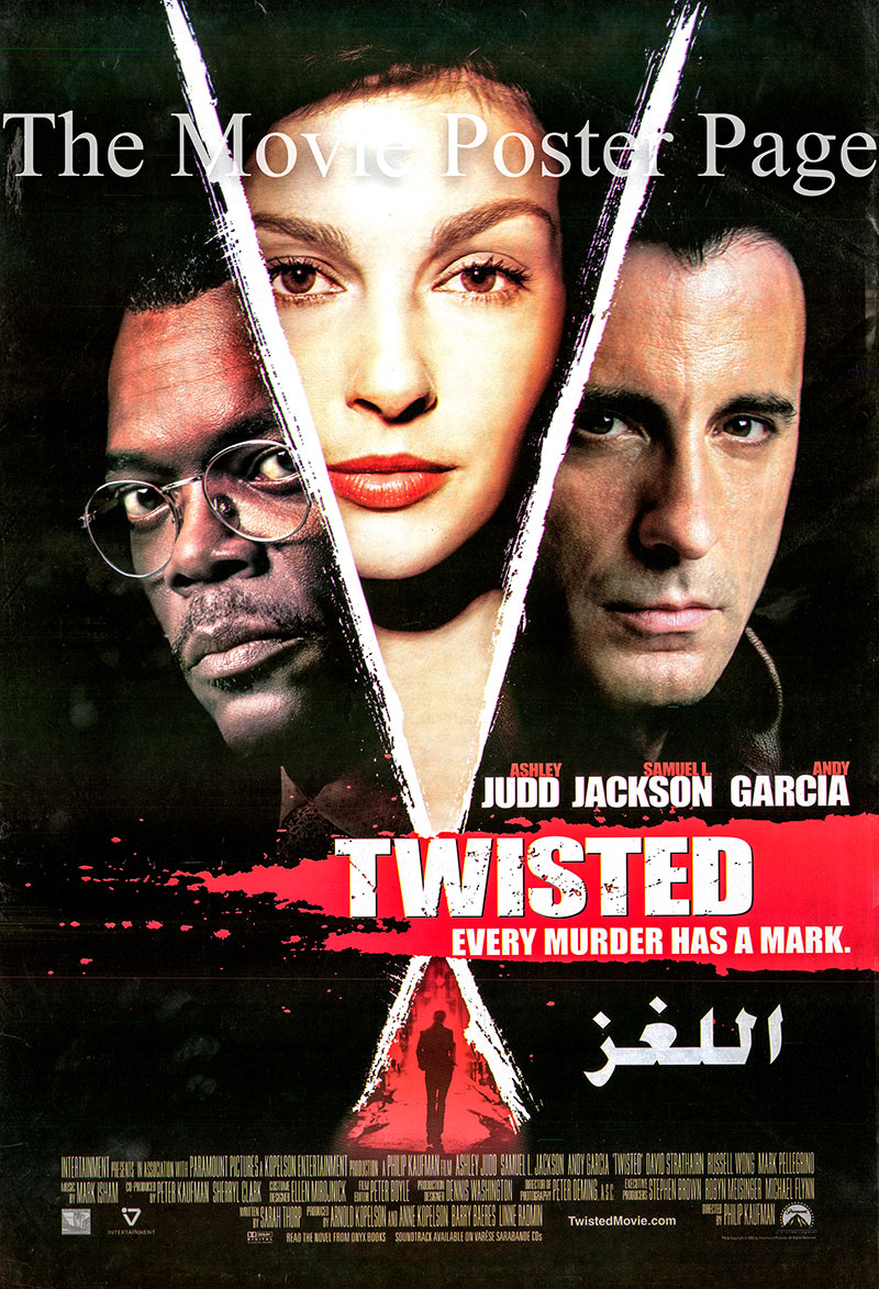 Pictured is an Egyptian promotional poster for the 2004 Philip Kaufman film Twisted starring Ashley Judd.