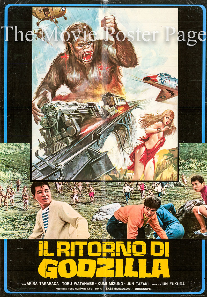 Pictured is an Italian busta poster for the 1966 Jun Fukuda film Godzilla vs. the Sea Monster.