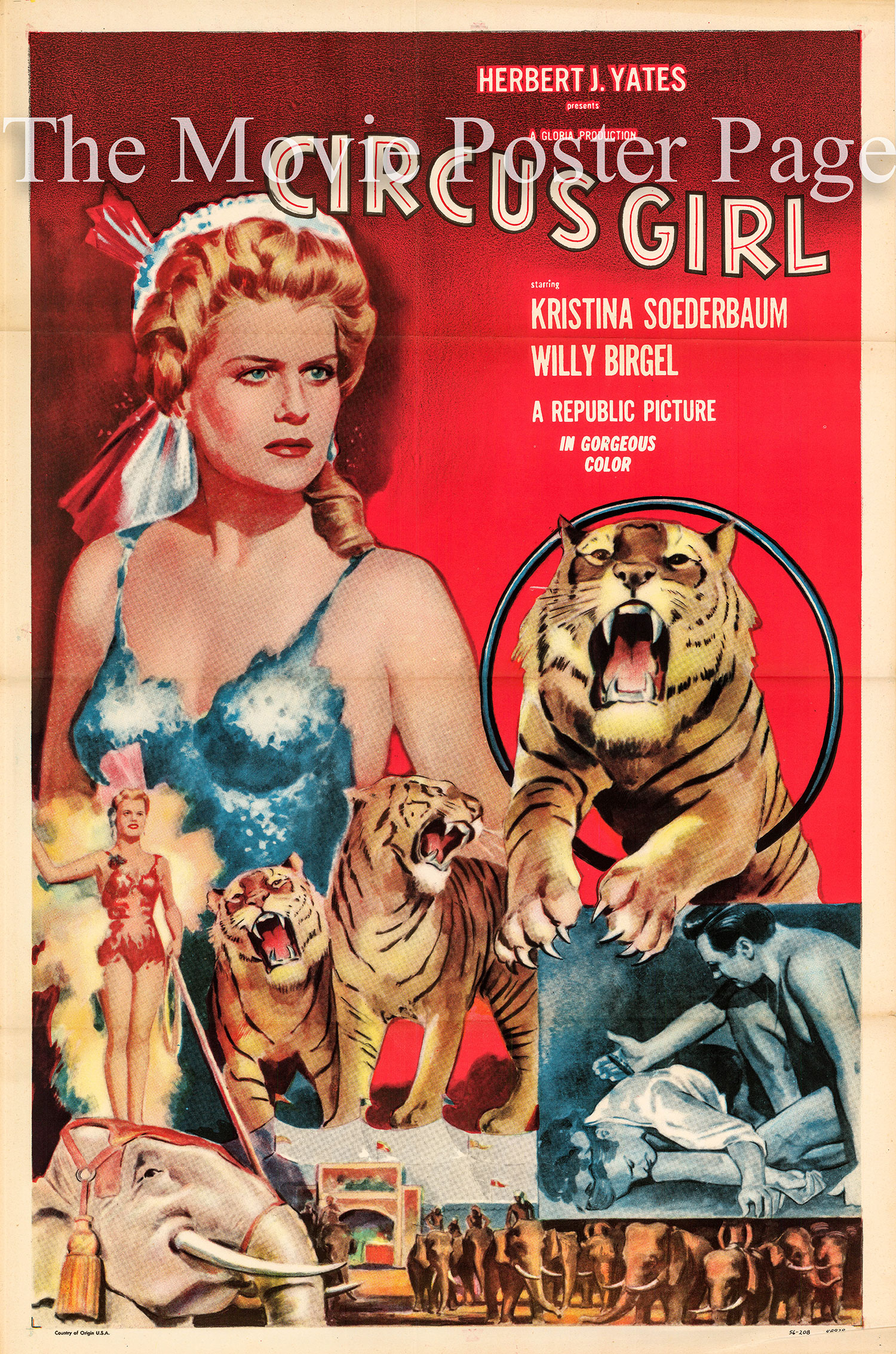 Pictured is a US poster for a 1956 rerelease of the 1954 Viet Harlan film Circus Girl starring Kristina Soderbaum.
