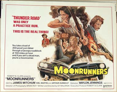 Pictured is a US half-sheet promotional poster for the 1974 Gy Waldron film Moonrunners starring James Mitchum> <h3> <p><center><p><iframe src=