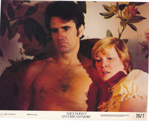 Pictured is a US lobby card for the 1974 Martin Scorsese film Alice Doesn't Live Here Anymore starring Ellen Burstyn as Alice.