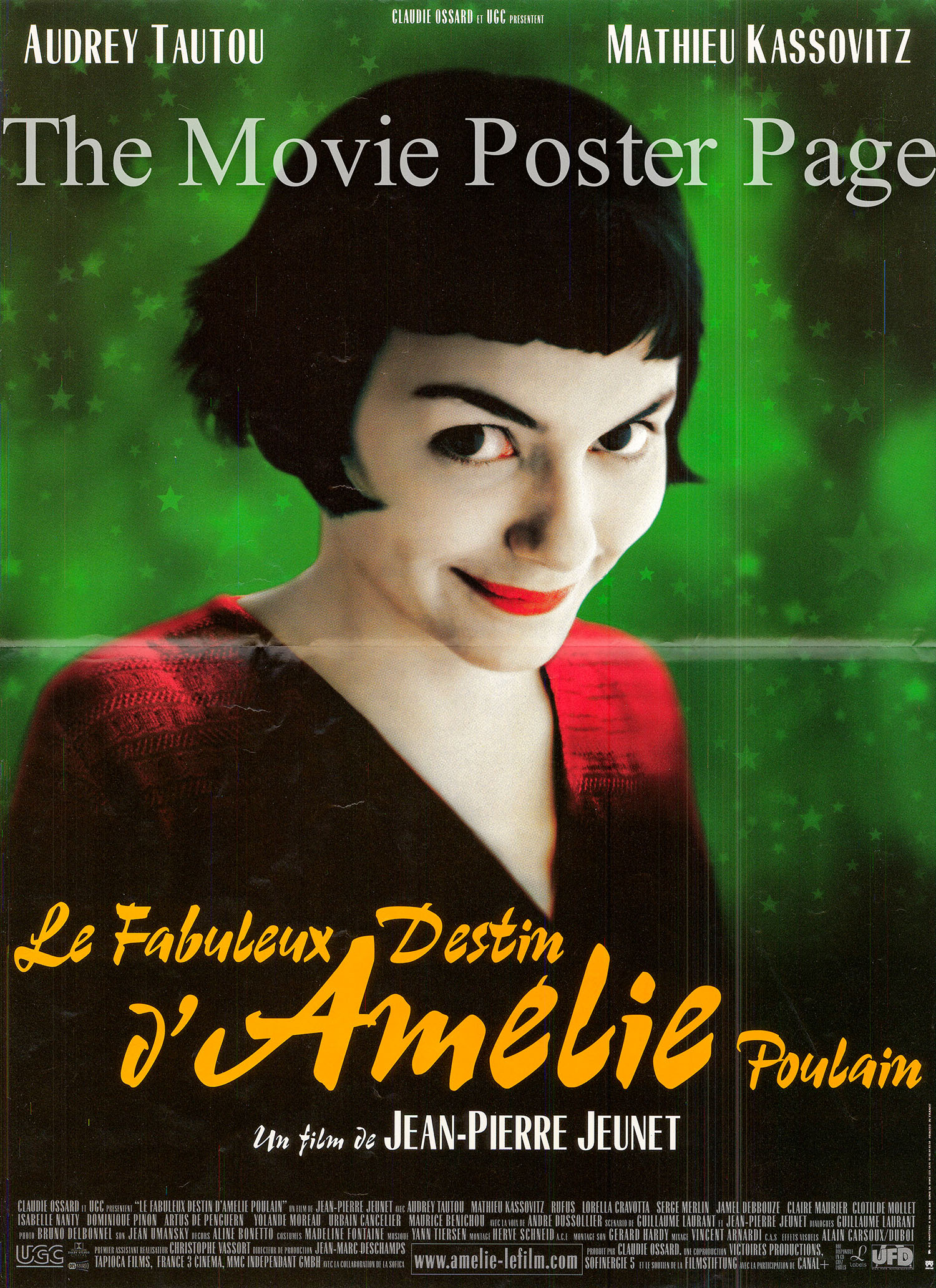 P:ctured is a French mini promotional poster for the 2001 Jean-Pierre Jeunet film Ameli starring Audrey Tautou.
