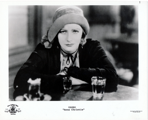 Pictured is a US promotional still photo from the 1931 Jacques Feyder film Anna Christie starring Greta Garbo.