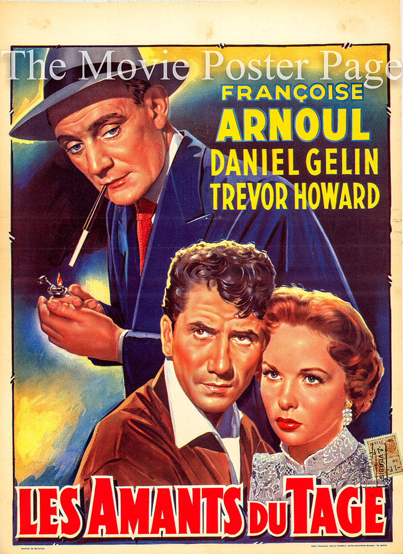 Pictured is a Beligian poster for the 1955 Henri Verneuil film Lovers of Lisbon starring Daniel Gelin as Pierre Roubier.